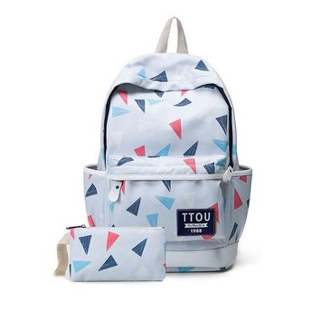 Student Backpack Children TTOU Printing Backpack Flowers Canvas Backpack Student School Bag Graffiti Backpack for Teenage Girls Fashion Travel Bags AT_49_3