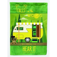 Be in the Woods Retro Camper Flag Garden Size BB5482GF