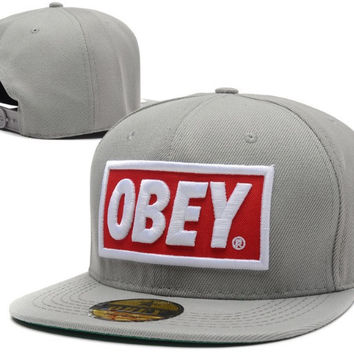 Obey Light Grey Snapback