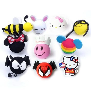 Princess Demon Minnie Mickey Hello Kitty Rabbit Cute Funny Cartoon Doll Antenna Balls EVA Aerial Toppers Car Styling Ornament