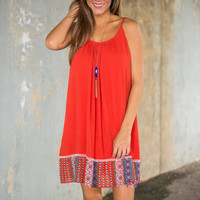 Summer Fun Dress, Rust