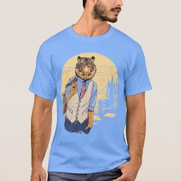 T-Shirt Social Tiger Illustration 2
