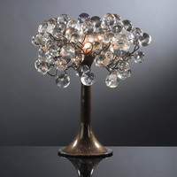 Crystal Table lamps . Natural transparent bubbles.