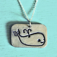 Handmade WHALE NECKLACE  ocean animal jewelry by by boygirlparty