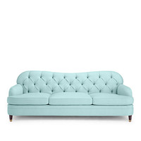 Kate Spade Drake Tufted Sofa Pale Aqua ONE