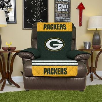 Green Bay Packers Recliner Furniture Protectors With Elastic Straps