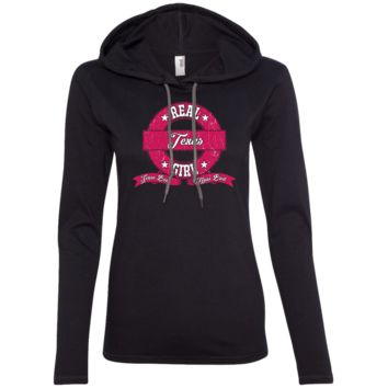 Real Texas Girl Ladies LS T-Shirt Hoodie