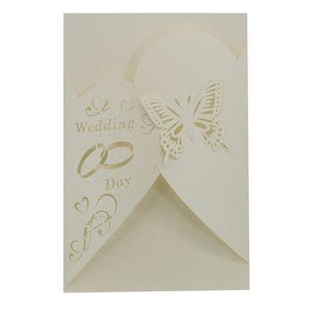 Wedding invitation card marriage laser cutting 20 Pcs Delicate Carved Romantic Party U70512