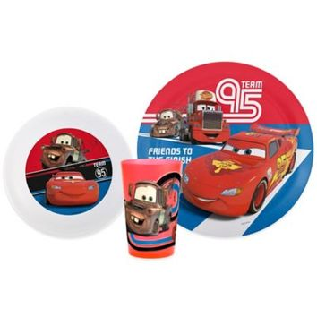 Zak! Designs® Disney® Pixar Cars 3-Piece Kids Dinnerware Set