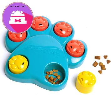 Paw Dog Toys Food Hide Bowl Dog Interactive Accessories Dog Puzzle Toys Food Leakage Toys For Pet Slowing-Eating Food Toys WL003
