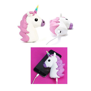 8800mah Funny Cute Emoji Unicorn Shaped Power Bank Battery Charger Powerbank Case for iPhone/Samsung Galaxy/HTC/SONY/NOKIA
