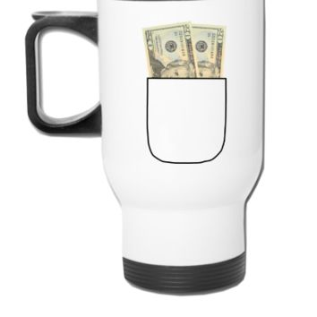 money pocket - Travel Mug