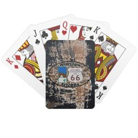 Historic US Route 66 ~ Winslow, Arizona Playing Cards