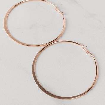 Oversized Rose Gold Hoop Earrings - AKIRA