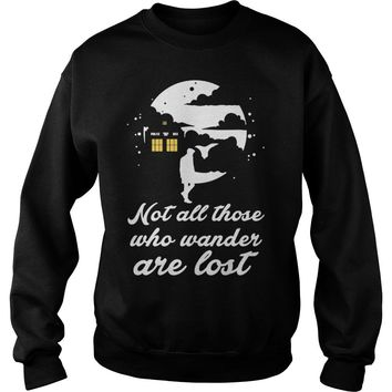 Whovian not all those who wander are lost shirt Sweatshirt Unisex