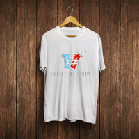 twenty one pilots Shirt T-shirt white,black,blue and grey
