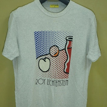 30% christmas sale Vintage Roy Lichtenstein Pop Art Andy Warhol Graffiti Fashion 90s Streetwear T shirt loud Jean Michel Jmb Haring Keith