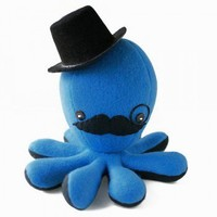 ShanaLogic.com - 100% Handmade  Independent Design! Deluxe Sir Fancy Octo-Plushie! - New Arrivals