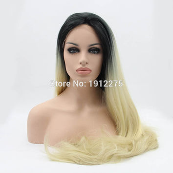 ombre lace front wigs synthetic lace front wigs for black women heat resistant blonde hair