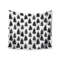 "Marta Olga Klara ""Pine Forest"" Nature Black Wall Tapestry"