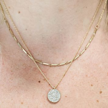*DOORBUSTER DEAL* LAYERED GOLD PENDANT NECKLACE