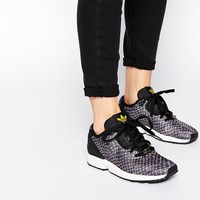 Adidas Black ZX Flux Animal Print Trainers