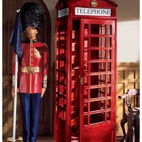 Authentic Replica British Telephone Booth - AF4353                       - Design Toscano