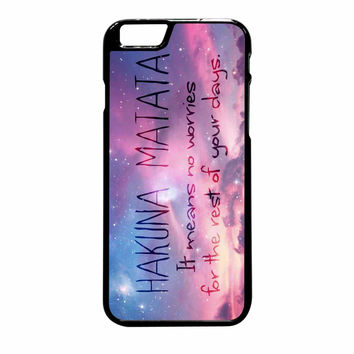 Hakuna Matata Galaxy iPhone 6 Plus Case