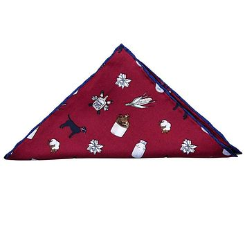 Pocket Square in Red Anniversary by Southern Proper