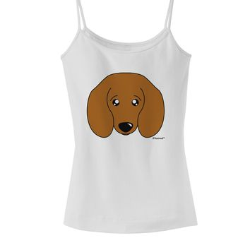 Cute Doxie Dachshund Dog Spaghetti Strap Tank  by TooLoud
