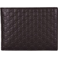 Gucci Men's Dark Brown Microguccissima Trifold with ID Case 217044