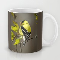 Goldfinch in Song Mug by Christina Rollo | Society6