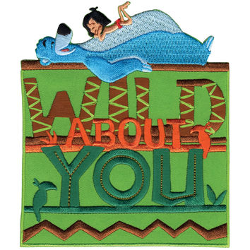 Disney Jungle Book Iron-On Applique-Wild About You
