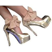 Amazon.com: Heel Condom in Lace and Sequin: Shoes