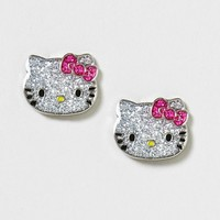 Sparkle Hello Kitty Studs  | Claire's