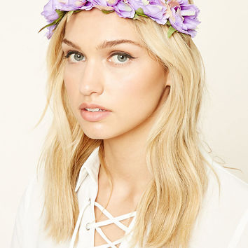 Faux Suede Flower Crown