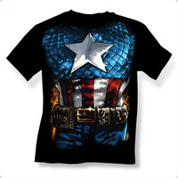 Captain America American Way Mens T-Shirt