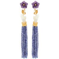 Moonstone And Mother-Of-Pearl Bloom Earrings | Moda Operandi