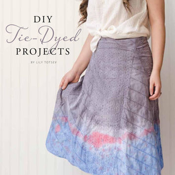 Altered Couture Magazine Wrap skirt upcycled clothing Tie dye gray blue summer skirt Boho clothing Hippie clothes Eco clothes