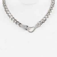 "16"" crystal snake collar choker bib Necklace"