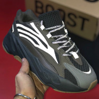 shosouvenir Adidas Yeezy Boost 700 Grinded leather weaving stitching shoes