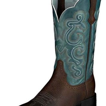 Ariat Quickdraw Brown Oiled Rowdy Leather Boots