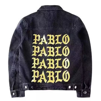 I Feel Like Pablo DARK DENIM JACKET