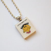 Little Miss Tidy Scrabble Pendant on 18 inch silver ball chain