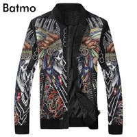 2017 new arrival high quality spring printed casual jacket men, fashion slim men's jacket US size M-3XL