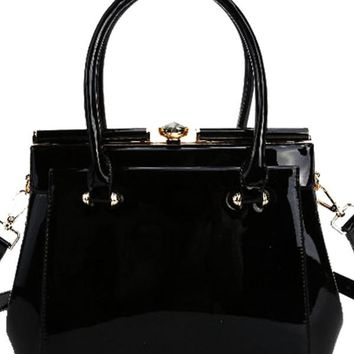 Fit For a Queen Hand Bag BLACK