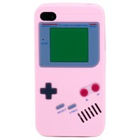 SANOXY Luck Case Pink Soft Silicone Nintendo Gameboy Case / Skin / Cover for Apple Iphone 4 4G Incl