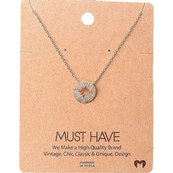Must Have-Compass Necklace, Rose Gold