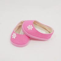 Cotton Candy Pink Slip On Flats made for American Girl Dolls