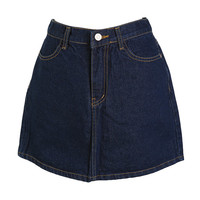 A-Line Denim Mini Skirt